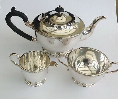 High quality, elegant silver Plated Tea Set by Walker and Hall
