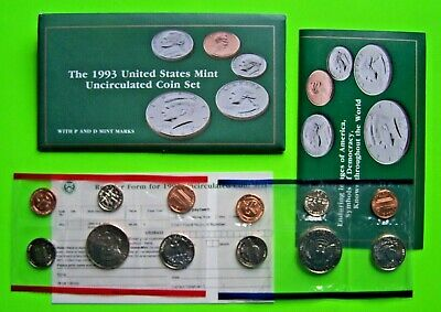 1993-P&D United States Mint Uncirculated Coin Set