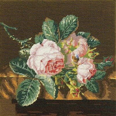DMC C42N57/2 Roses on Silk Tapestry Canvas (Canvas only)
