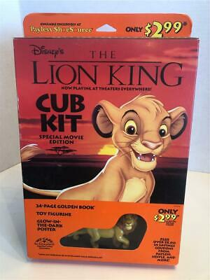 1994 DISNEY'S THE LION KING CUB KIT exclusive PAYLESS SHOESOURCE Collectible