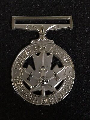 Fire Service Exemplary Service Medal Full Size