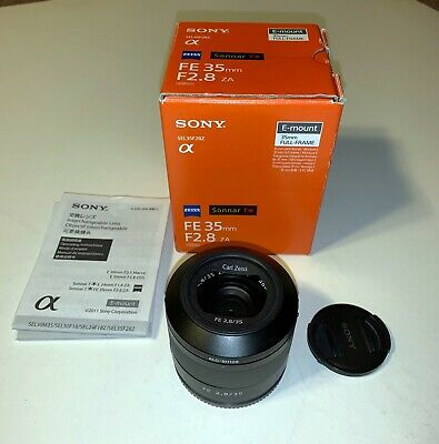 Sony SEL 35-35mm f/2.8 FE ZA Lens For E Mount Camera