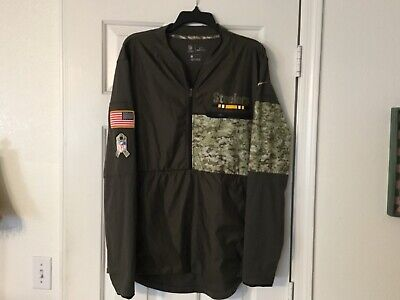 innovative design eec71 09c45 NFL ONFIELD NIKE Shield Pittsburgh Steelers USA Camo Jacket Pre-Owned