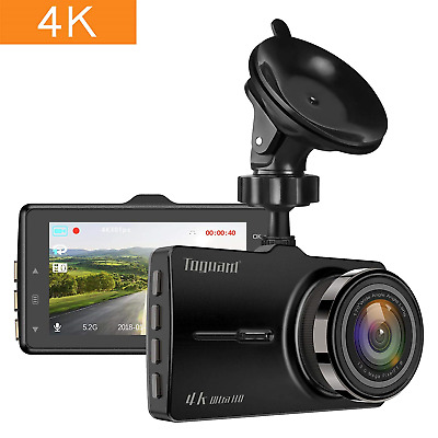 TOGUARD Dash Cam 4K in Car Ultra HD Car Camera Driving Video Recorder 3 inch WDR
