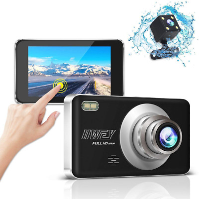 Dual Dash Cam Front and Rear Camera with Night Vision, 1080P Dashcam with 4 IPS