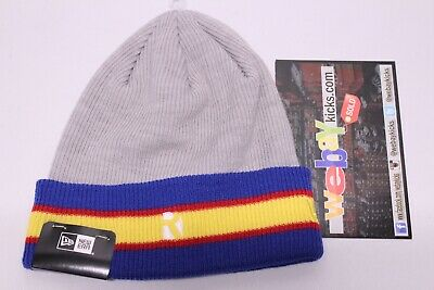 f88bf16c New Era Raised R Brand Gray Blue Yellow Red Knit Beanie One Size Cap Hat New