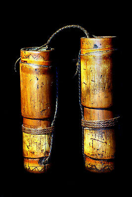 """Palawan Tribe Antique Tribal Used Authentic """"dalop"""" Containers; Circa 1880!"""