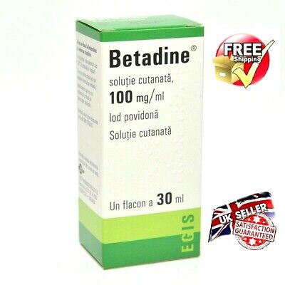Betadine Antiseptic Povidone Iodine Solution 30 ml for First Aid Kit Cuts Wounds