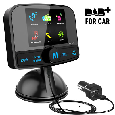 "[2.4"" Colorful Screen] Car Radio Adapter, Esuper Portable Car DAB+ Digital Radio"
