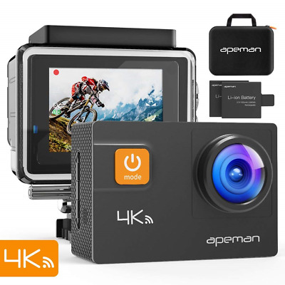 apeman Sports Camera 4K 20 MP WiFi Ultra HD Underwater Action Camera Waterproof