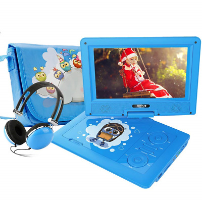 """FUNAVO 9.5"""" Portable DVD Player with Headphone, Carring Case, Swivel Screen, 5"""