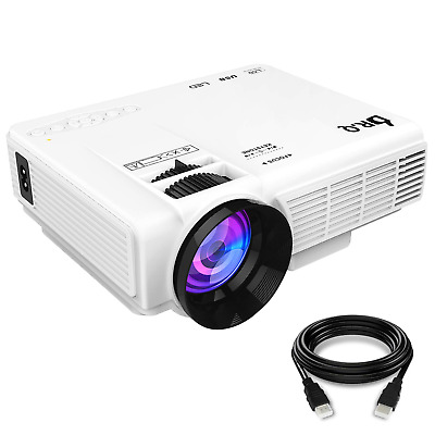 DR.Q Projector, Mini Projector, Upgraded 3200 Lux Video Projector with 170 Inch