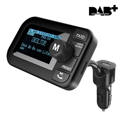 "FirstE Car DAB/DAB+ Radio Adapter 2.3"" LCD Bluetooth FM Transmitter Handsfree 5V"