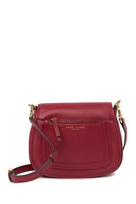 a88665247b5e NEW  325 MARC Jacobs Empire City Leather Crossbody Bag Wine Red ...