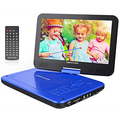 "DBPOWER® 10.5"" Portable DVD Player, 5 Hour Rechargeable Battery, Swivel Screen,"