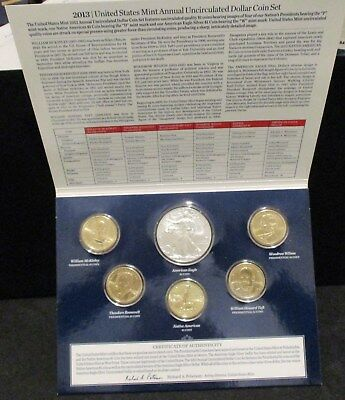 2013 U.S. Mint Annual Uncirculated Dollar Coin Set - Original Packaging