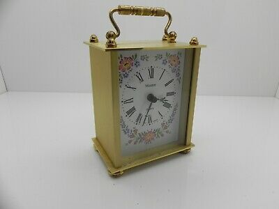 Collectable Minster Quartz Vintage Brushed Brass Carriage Clock Made In West Ger
