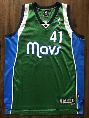 c5b539e702d vtg DIRK NOWITZKI ALTERNATE Reebok Jersey 2XL +2 Dallas Mavericks  05 green  mavs