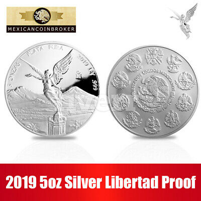 "2019 5 oz Silver Libertad  Proof ""Treasure Coin Of Mexico™"""