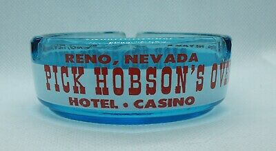 Vintage Pick Hobson's Overland Hotel Casino Reno Nevada ashtray  colorful
