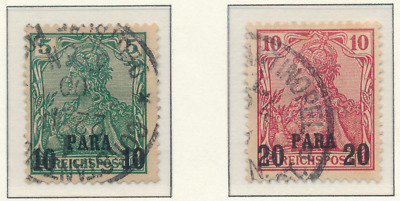 Germany, Offices In Turkey Stamps Scott #13 To 15, Used, Short Set