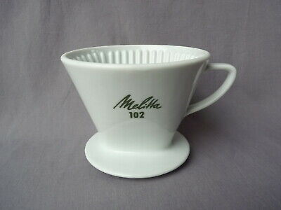 Melitta 102 vintage 3 Loch Filter Cone Porzellan Coffee dripper hand drip brewer