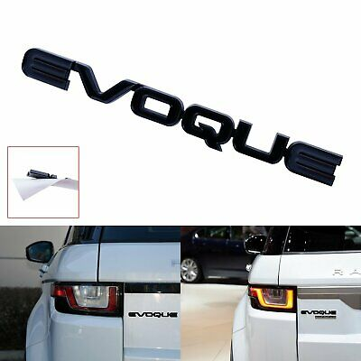 1x EVOQUE Logo Style Badge Emblem Gloss Black Fit Range Rover Rear Boot Tailgate