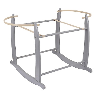 Clair de Lune Deluxe Rocking Moses Basket Stand Grey