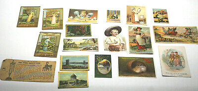 15pc+ Vintage Antique Cards Advertisement Promo Granite Ironware Franklin Auto