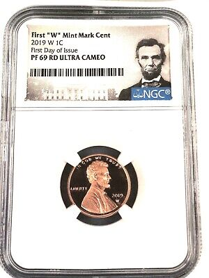 "2019- W- ""west Point""  Lincoln Cent- Fdi - Ngc Pf69 Red U.c. ,first Day Issue"