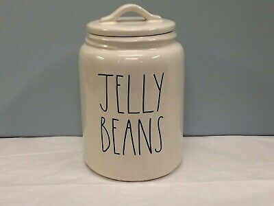 New Rae Dunn Large JELLY BEANS Canister LL Large Letter Farmhouse By Magenta