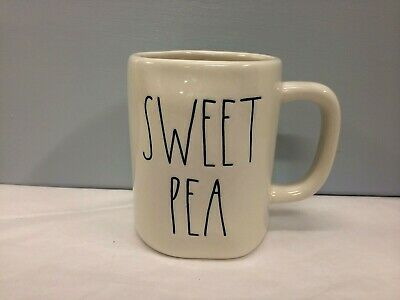 New Rae Dunn SWEET PEA Coffee Mug LL Large Letters Farmhouse Artisan Collection