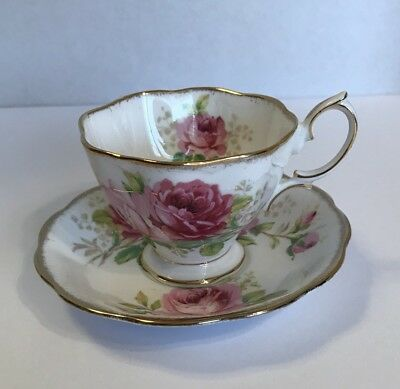 Royal Albert American Beauty Footed Teacup And Saucer