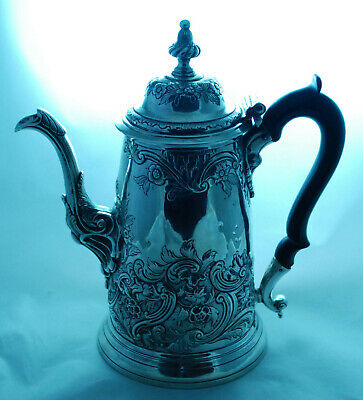 Georgian Silver Coffee Pot 906g 24cm London 1755 A704017