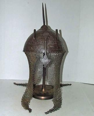 Authentic Antique Islamic Mughal Indo Persian Helmet to sword talwar shamshir