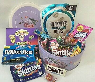 American Retro Sweet USA Hamper Selection Mixed Candy Present Personalised Gifts