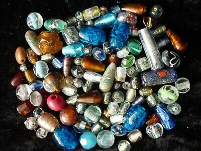 Bulk Lot, Approx 300 grams OF MIXED GLASS BEADS! NEW