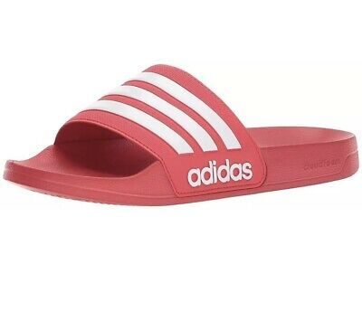 0be48c0e4974 Adidas Men s Adilette Slides   Sandal Shower Shoe Size 12 NEW in Box Red -  White