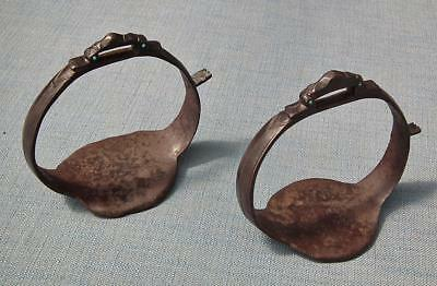 Rare Antique 17th Century Islamic Indo Persian Saddle Stirrups to sword shamshir