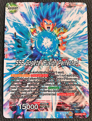 SSB Gogeta, Fusion Perfected BT6-001 UC Dragon Ball Super TCG Near Mint