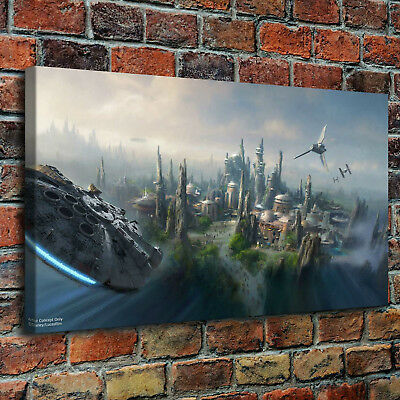 "Star Wars Country Behind Painting HD Print on Canvas Home Decor Wall Art 16""x30"""