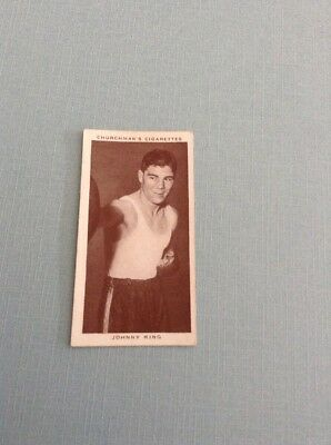 1938 Churchman Cigarettes Boxing Personality Englishman Johnny King Y