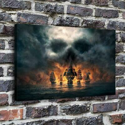 "Skull and Bones Poster HD Prints on Canvas Home Decor Room Wall Art 16""x24"""