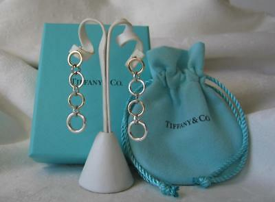 16e2220be Tiffany & Co. Italy 18K Gold & Sterling Round Link Drop Earrings B & P