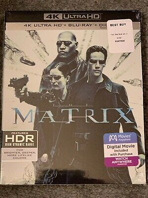 The Matrix 4K Blu ray + DIGITAL - NEW and SEALED