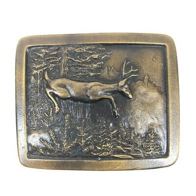 VINTAGE Indiana Metal Craft Deer Buck Belt Buckle