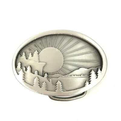 Indiana Metal Craft Sunrise Belt Buckle VINTAGE 1977