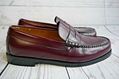b994b2428e78 Stuart McGuire Size 8.5 EE Burgundy Leather Penny Loafer Shoes