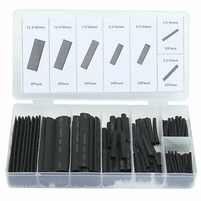 127 Pcs Heat Shrink Tubing Insulation Shrinkable Tube 2:1 Wire Cable Sleeve Kit