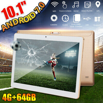 10.1'' 4G+64GB Android 7.0 Tablet PC HD bluetooth Double 2 SIM  Octa Core Camera